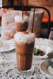 Bevroren koffie in koffierestaurant Royalty-vrije Stock Foto