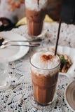 Bevroren koffie in koffierestaurant Stock Afbeelding