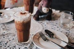 Bevroren koffie in koffierestaurant Royalty-vrije Stock Afbeeldingen