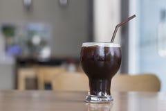 Bevroren koffie in koffiewinkel stock foto's