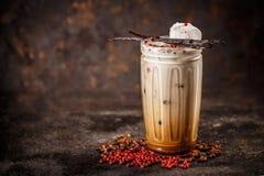 Bevroren koffie met melk stock foto
