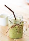 Bevroren matcha latte Stock Fotografie