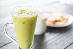 Bevroren matcha latte Stock Afbeelding