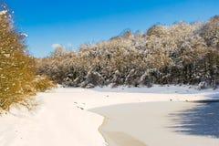 Bevroren meer in Legutiano Royalty-vrije Stock Afbeeldingen