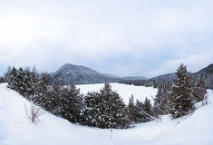 Bevroren meer tijdens de winter Royalty-vrije Stock Afbeelding