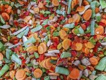 Bevroren mengeling van groenten stock foto's