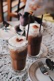 Bevroren Mocha-Koffie in de Koffiewinkel Stock Foto's