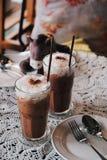 Bevroren Mocha-Koffie in de Koffiewinkel Royalty-vrije Stock Foto