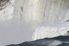 Bevroren Niagara Falls Stock Foto's