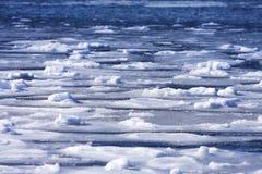 Bevroren oceaanachtergrond Royalty-vrije Stock Foto