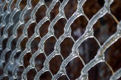 Bevroren omheinings netto neary de Zwarte Zee Varna Bulgarije Royalty-vrije Stock Foto