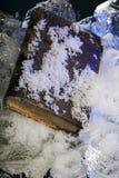 Bevroren oud schaars boek stock foto