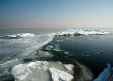 Bevroren overzees Royalty-vrije Stock Afbeeldingen