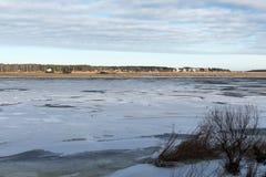 Bevroren overzees strand Stock Afbeelding