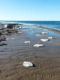 Bevroren overzees strand Royalty-vrije Stock Afbeelding