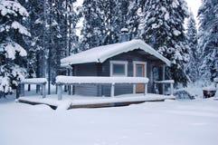 Bevroren plattelandshuisje Stock Fotografie
