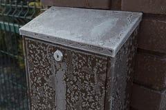 Bevroren postbus Royalty-vrije Stock Afbeeldingen