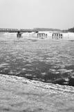 Bevroren rivier Royalty-vrije Stock Foto's