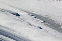 Bevroren rivier Stock Fotografie