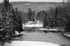 Bevroren rivier Royalty-vrije Stock Foto