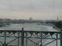 Bevroren rivier Stock Afbeeldingen