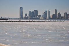 Bevroren rivier in de Verenigde Staten Royalty-vrije Stock Fotografie