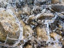 Bevroren rotsen stock afbeeldingen