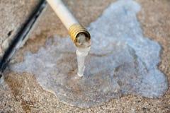 Bevroren slangwater Stock Afbeeldingen