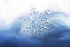 Bevroren sneeuwvlok Stock Afbeelding