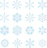 Bevroren sneeuwvlokken Royalty-vrije Stock Foto