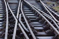 Bevroren Spoorweg Stock Afbeeldingen