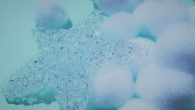 Bevroren sterachtergrond van christmastime royalty-vrije stock foto
