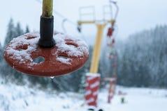 Bevroren stoeltjeslift Stock Afbeelding