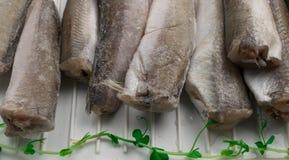 Bevroren stokvissenvissen Stock Foto's