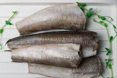 Bevroren stokvissenvissen Royalty-vrije Stock Fotografie