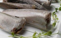 Bevroren stokvissenvissen Royalty-vrije Stock Foto's