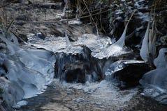 Bevroren stroom Stock Foto