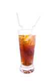 Bevroren thee met citroen. En rum Stock Afbeelding