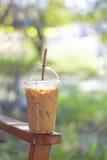 Bevroren thee met melk Stock Afbeelding