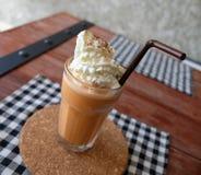 Bevroren thee met melk smoothies Stock Foto