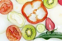 Bevroren veggies stock foto's