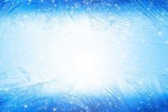 Bevroren venster Royalty-vrije Stock Afbeeldingen
