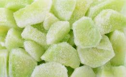 Bevroren verse groene komkommerplakken Stock Foto's