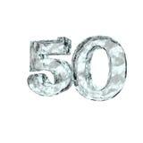 Bevroren vijftig royalty-vrije illustratie