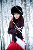 Bevroren vrouw. stock afbeeldingen