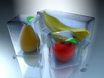 Bevroren vruchten Stock Foto's
