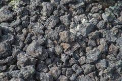 Bevroren vulkanische duizenden van de lavaclose-up jaren na de uitbarsting stock afbeeldingen