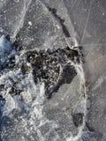 Bevroren vulklei beeld van ijsachtergrond Stock Foto