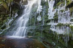 Bevroren water Royalty-vrije Stock Foto's