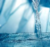 Bevroren water royalty-vrije stock afbeelding